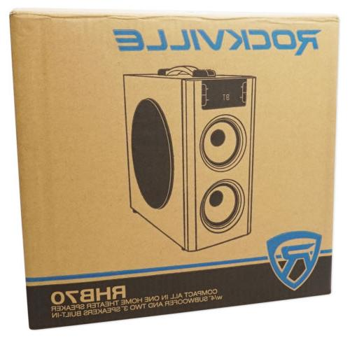 Rockville RHB70 Compact Powered System w Bluetooth/USB/FM