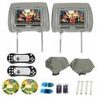"Rockville RVD721-GR 7"" Gray Dual DVD/USB/HDMI/SD Car Headr"