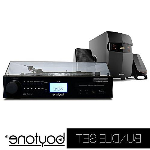 set fully automatic bluetooth turntable