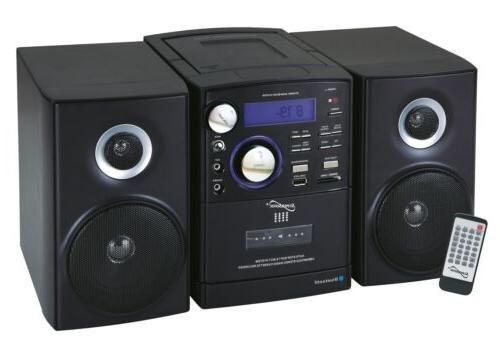 shelf stereo bluetooth system mp3 cd cassette