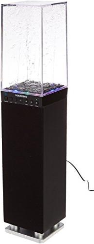 Sylvania SP118-BLACK Water Dancing Bluetooth Mini Tower Spea
