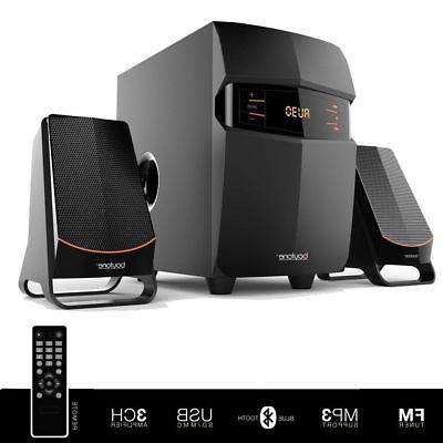 Stereo Bass System Home Audio Shelf Sound Speakers Radio Wir