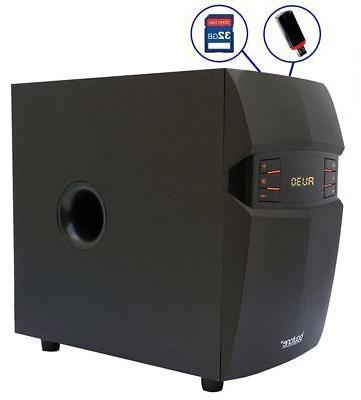 Stereo Bass System Audio Radio Wireless Bluetooth New