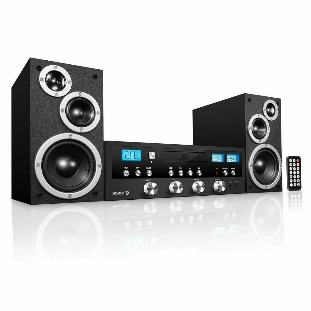 stereo system cd bluetooth home speaker new