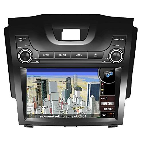 8 Touch Screen Car GPS Navigation Chevrolet S10 S-10 Stereo Player Video Radio Audio Bluetooth Wheel Rear Map of