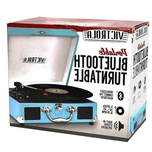 Innovative Technology Vintage 3-Speed Bluetooth Turntable with Speakers