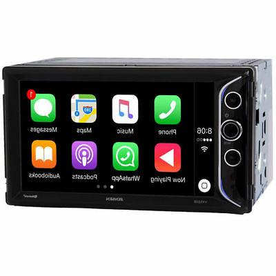 Bluetooth /& USB Port Dual Jensen Jensen VX5228 6.2 LED Backlit LCD Digital Multimedia Touch Screen Double DIN Car Stereo with Built-in Apple CarPlay
