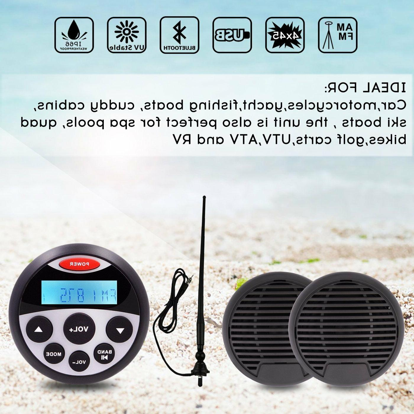 waterproof marine speakers boat