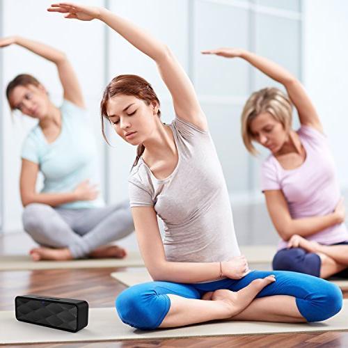 ZoeeTree S1 Bluetooth Speaker, Outdoor Speaker and Enhanced Dual Driver Speakerphone, Card