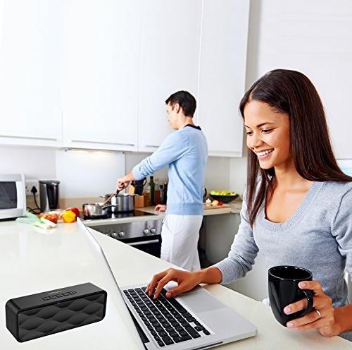 ZoeeTree S1 Wireless Speaker with HD Audio and Enhanced Dual Speakerphone, 4.2, TF Card Slot -