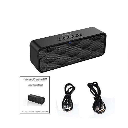 ZoeeTree S1 Speaker, Outdoor Portable Speaker and Enhanced Bass, Dual Driver Bluetooth 4.2,