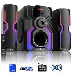 BeFree SOUND LED 2.1 CH HOME SHELF BLUETOOTH STEREO SPEAKER