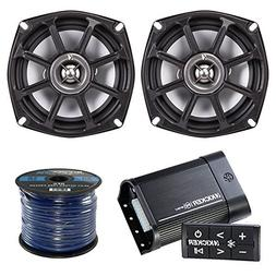 Marine Amp And Speaker Package: Kicker PXIBT502 Bluetooth Wa