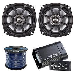 Marine Amp And Speaker Package: Kicker PXIBT502 Bluetooth Wa