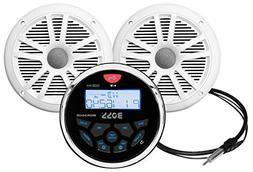 BOSS Audio MCKGB350W.6 Receiver/Speaker Package, Bluetooth,
