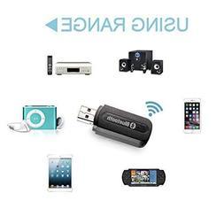 MINI USB Bluetooth 3.5mm Stereo Audio Music Receiver & Adap