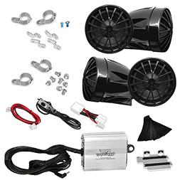 Motorcycle Audio System - 800 Watts Speaker and Amplifier -