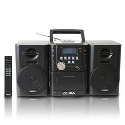 AXESS MS3912 Mini Entertainment System with AM/FM, USB, CD,