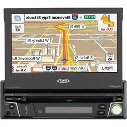 "Jensen 7"" Navigation Flip Out Touchscreen CD/DVD Receiver wi"