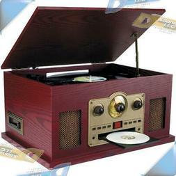 NEW SYLVANIA 5-in-1 3-Speed Turntable/CD/Radio/Cassette Reco