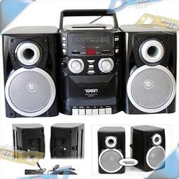 NEW NAXA AM/FM Radio CD/Cassette Player Portable Shelf Syste