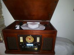 New it, Wooden Music Center Bluetooth Turntable, Recordable
