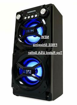 NEW - Sylvania Portable Bluetooth LED Stereo Loud Speaker Sy