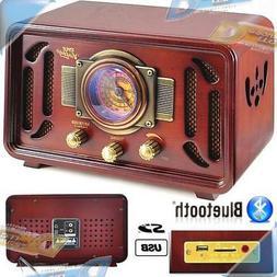 NEW PYLE Retro-Style Stereo Speaker Shelf System AM/FM Radio