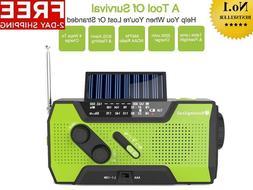 RunningSnail Solar Crank NOAA Weather Radio For Emergency 20
