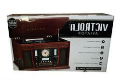 Victrola Nostalgic Aviator Wood 8-in-1 Bluetooth Turntable E
