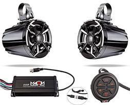 NOAM NUTV5 - Marine Bluetooth ATV/Golf Cart/UTV Speakers Ste