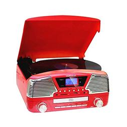 TechPlay ODC35 RD, 3 Spead turntable, programmable MP3 CD pl