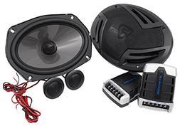 Pair Rockville RV69.2C 6x9 Component Car Speakers 1000 Watts
