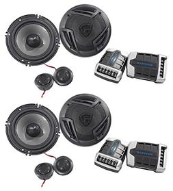 "Pairs Rockville RV65.2C 6.5"" Component Car Speakers 1500w/2"