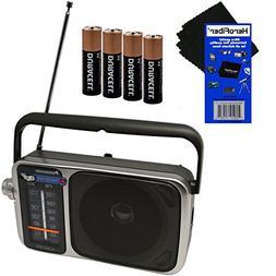 Panasonic Portable AM/FM Radio with Led Tuning Indicator + 4