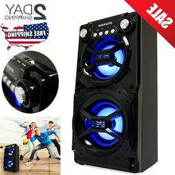 Party Speaker System Bluetooth Big Led Portable Huge Stereo
