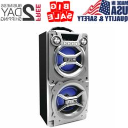 Party Speaker System Bluetooth Big Led Portable Stereo Light
