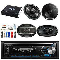 "Pioneer DEH-S4000BT CD Player w/Pioneer TSG1620F 6.5"" 2 Way"