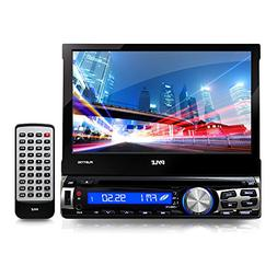 Single Din DVD Receiver Bluetooth - 7-Inch Car Stereo Touch