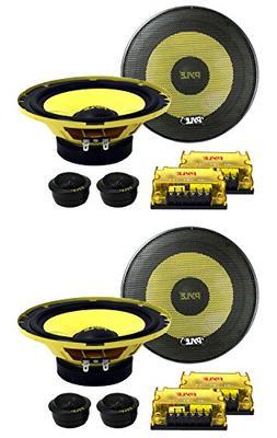 "4) New PYLE PLG6C 6.5"" 800W 2 Way Car Audio Component Speake"
