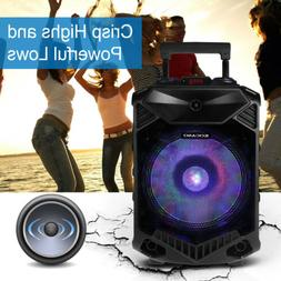 "12"" Portable Bluetooth Speaker BT Party DJ PA System Wireles"