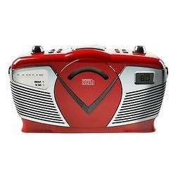portable cd boombox with am fm radio