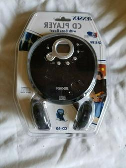 Jensen Portable CD Player Model CD-60 With Bass Boost, CD-R/