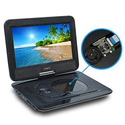 "SYNAGY 10.1"" Portable DVD Player CD Player with Swivel Scree"