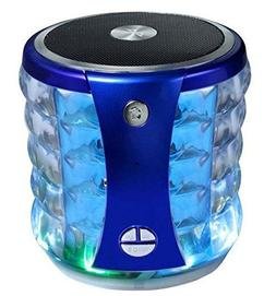 Portable Mini Wireless Speaker w/Flashing Lights for Sharp A