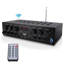 Pyle PTA62BT Bluetooth Home Audio Amplifier, 6-Ch. Audio Sou