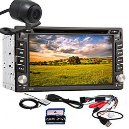 "Pupug Back Camera Car Stereo 6.2"" Car GPS Navigation iPod TV"