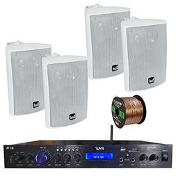 Pyle PDA7BU Amplifier Receiver Stereo, Bluetooth, FM Radio,