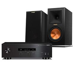 Yamaha R-S202BL Stereo Receiver with Klipsch RP-160M Bookshe