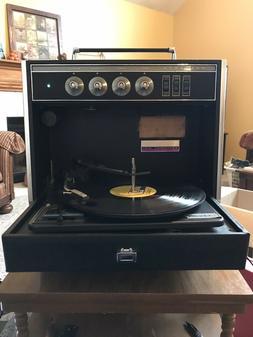 Sylvania Record Player Exponent Solid State Garrard Turntabl